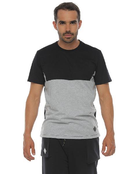 Camiseta manga corta, color negro, para hombre