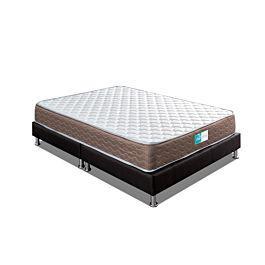 Colchón cetus + base cama negra + 1 almohada - rem