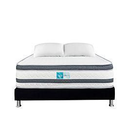 Colchón sirius + base cama negra + 1 almohada - rem