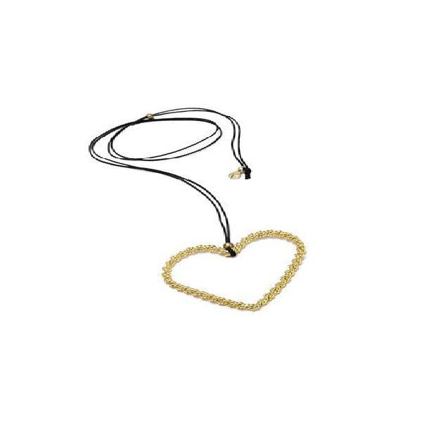 Collar de mujer dorado cuore intrecciato brass colection by