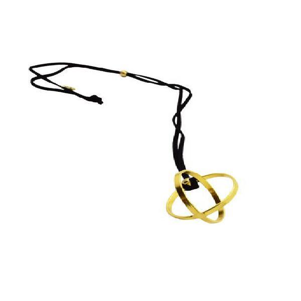 Collar de mujer oro pendente geometrico sfera brass