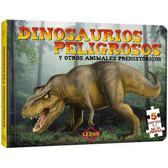 Dinosaurios peligrosos y otros animales con rompecabezas