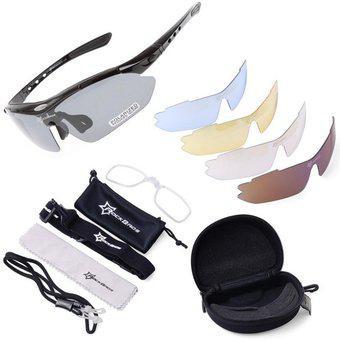 Gafas deportivas 5 lentes intercambiables rockbros