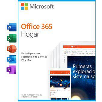 Office 365 hogar 6 meses hasta 6 usuarios 25 dispositivos pc
