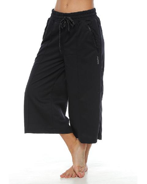 Pantalón jogger bota amplia, color negro, para mujer