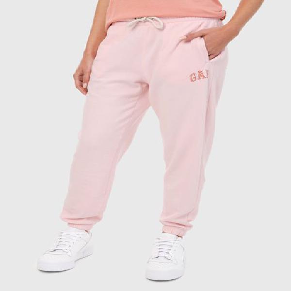 Pantalón rosa-blanco gap