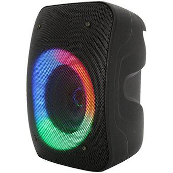 Parlante bafle bluetooth recargable radio fm con luces