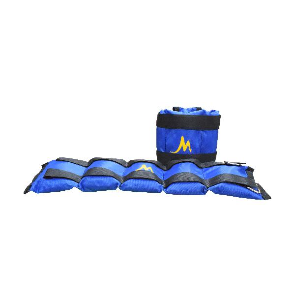 Pesas tobilleras mide 4 kg azul - miro deportes