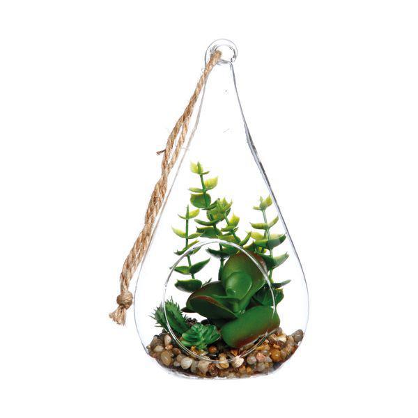 Planta artificial terrario drop