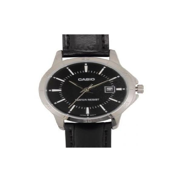 Reloj casio ltp_v004l_1a negro cuero