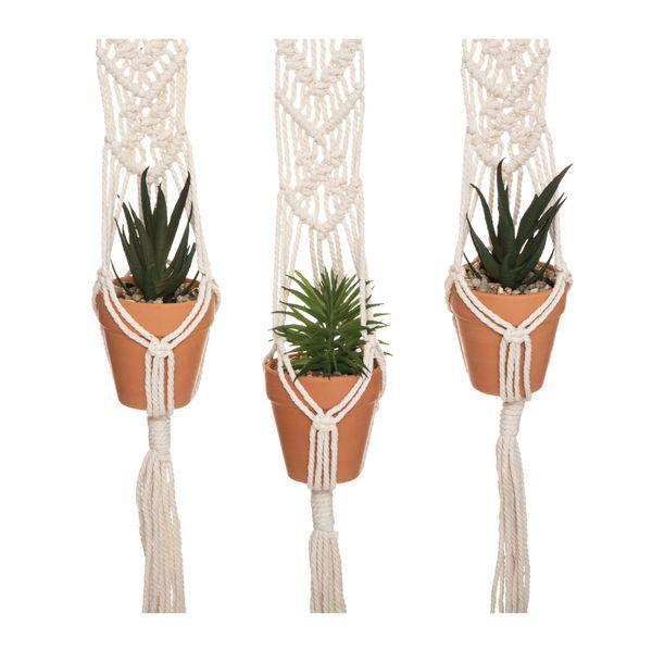 Set*3 plantas artificiales colgantes terra