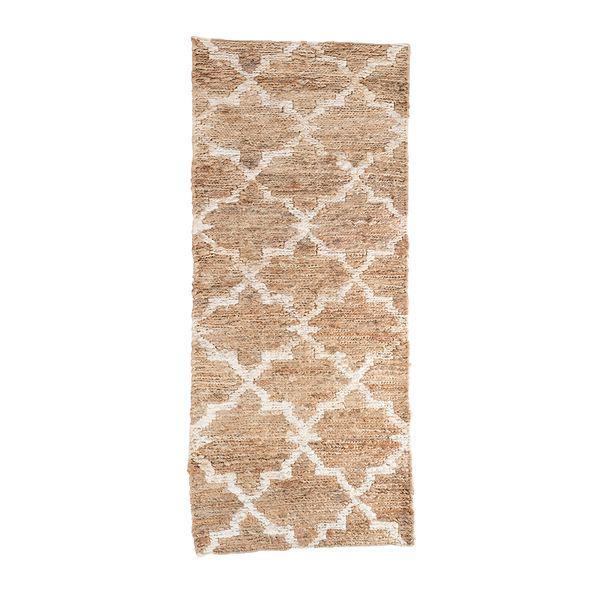 Tapete rectangular terra 60*150cm natural/blanco