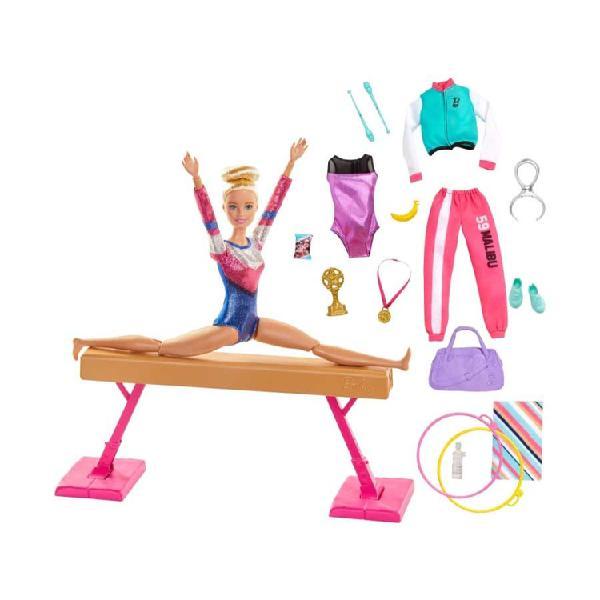 Barbie set de gimnasia mattel