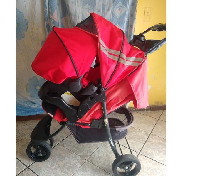 Coche para bebe bebesit color rojo