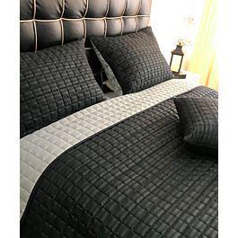 Edredon quilt doble faz negro-gris - karytex