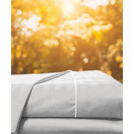 Juego sábanas sateen stripe blanco - karytex