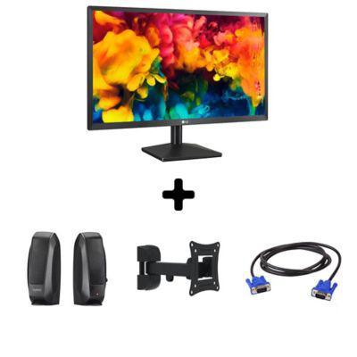 Lg monitor lg 22 + cable vga + soporte br + parlantes