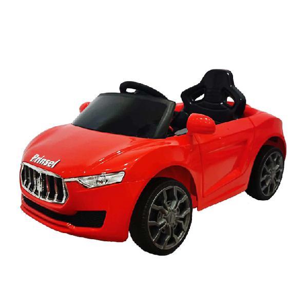 Montable eléctrico tipo automóvil maserati rojo prinsel