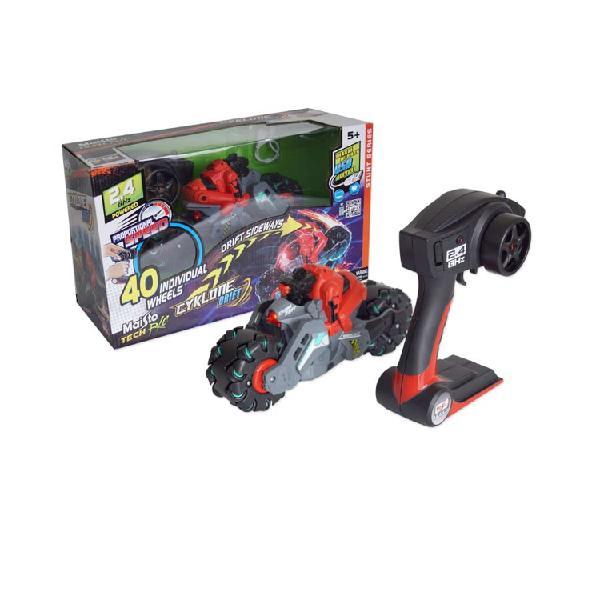 Motocicleta de juguete a control remoto cyklone drift mais