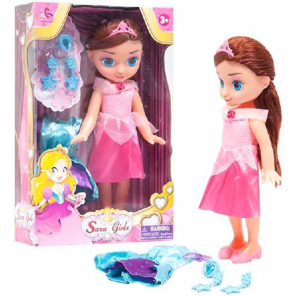 Muñeca princesa con accesorios sasa girls