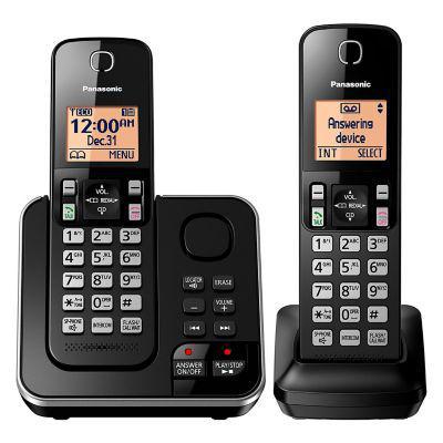Panasonic teléfono inalámbrico panasonic 2 auriculares