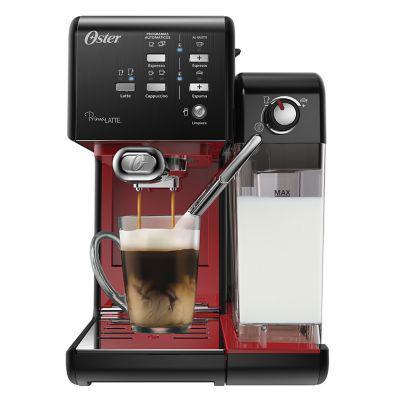 Oster cafetera automática prima latte rojo