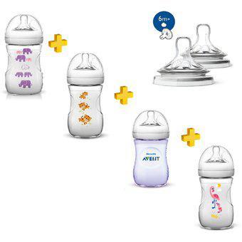 Avent set teteros naturals anti-gases bebe combo teteros
