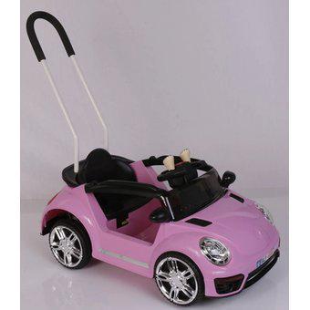 Carro eléctrico montable 2 en 1 niña control 1 a 4 años