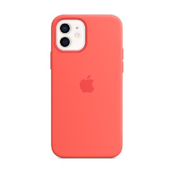 Case silicona apple iphone 12 / 12 pro pomelo rosa