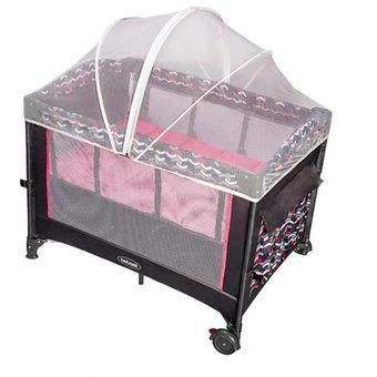 Cuna corral colecho bebesit rosado toldillo colchoneta