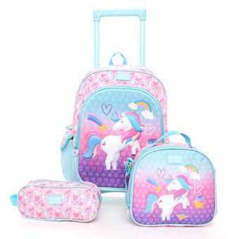 Mochila infantil c1 unicorn yxm053d-lila