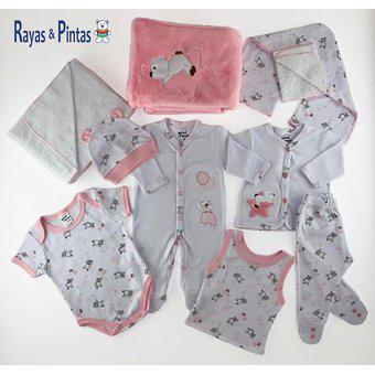 Primera muda, ropa para bebe recién nacida-rosado