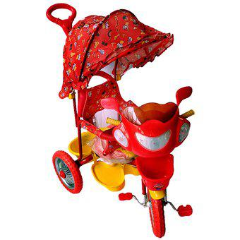 Triciclo mod 107a-4 capota roja