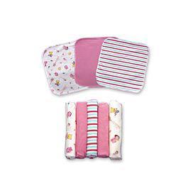 Set de pañuelitos multiusos para bebe rosado - landi baby