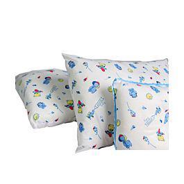 Set de tres cojines de lujo para bebes azul - landi baby