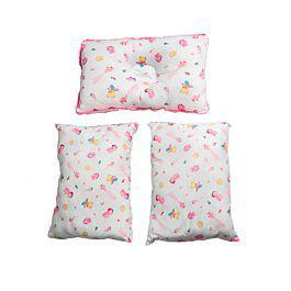 Set de tres cojines de lujo para bebes rosado - landi baby