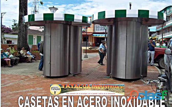 CASETAS Y KIOSCOS EN ACERO INOXIDABLE