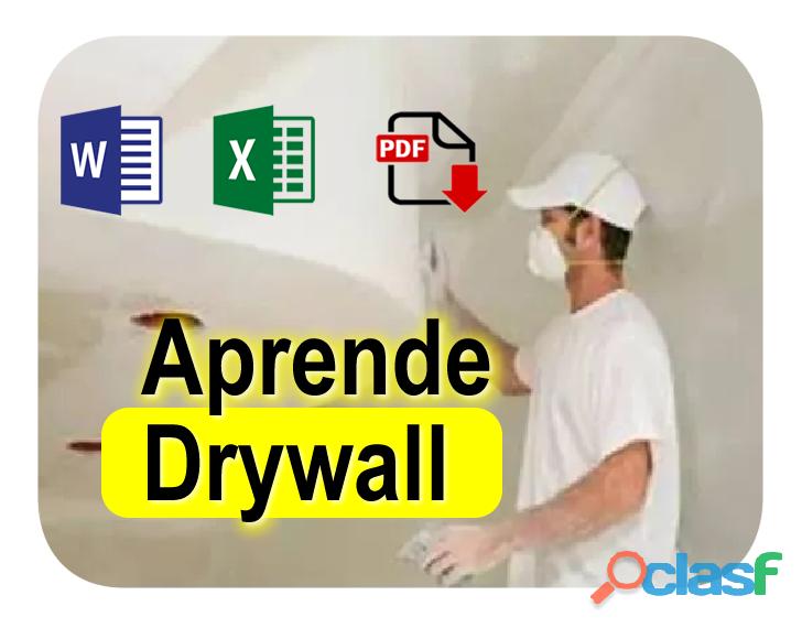 Curso Drywall Diseño Instalacion Profesional en PDF 10mil$ cop