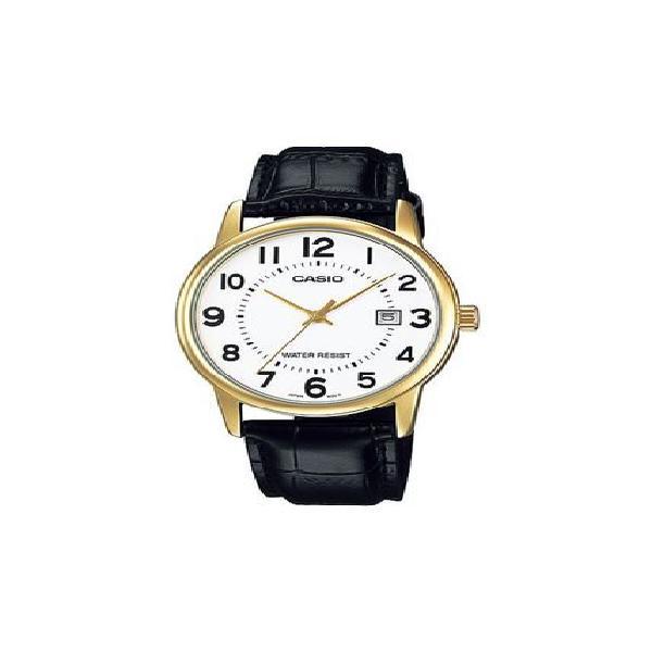 Reloj casio mtp_v002gl_7b negro cuero