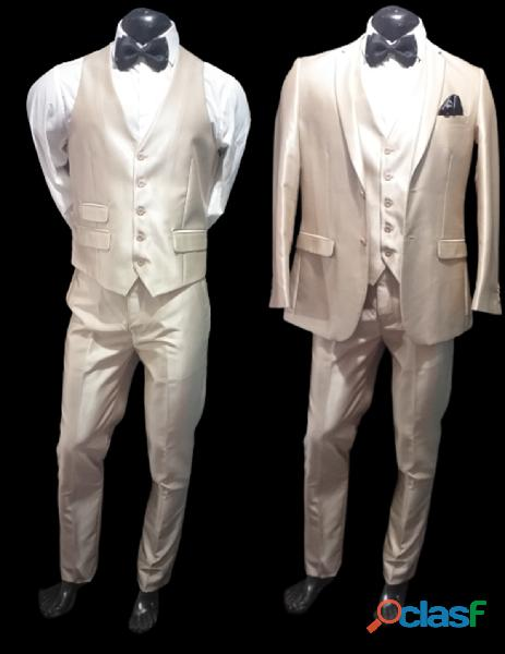 Alquiler de trajes Slim color champagne para hombre
