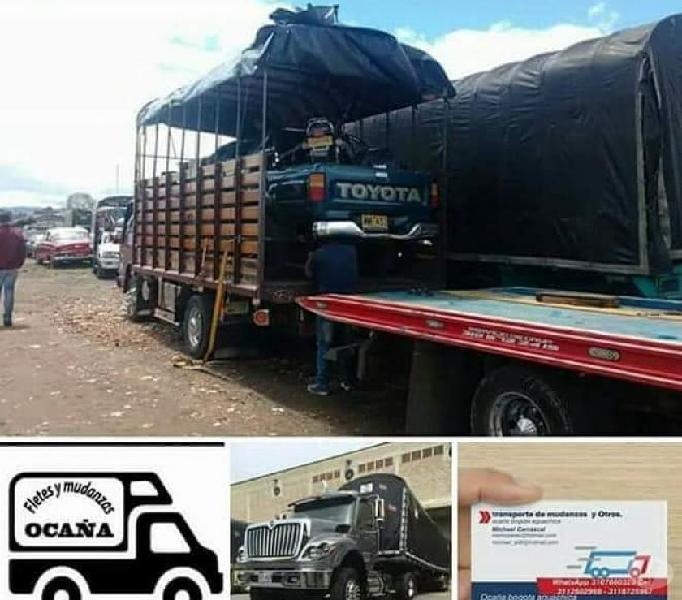 Servicio de transporte de carga y mudanza Ocaña bogota