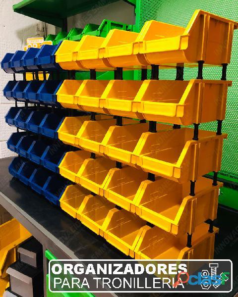 Organizadores Cajas Gavetas Plasticas Tornilleros Abierto REF. OPA 04 1