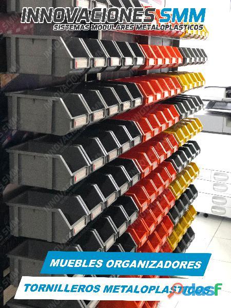 Organizadores Cajas Gavetas Plasticas Tornilleros Abierto REF. OPA 04 2