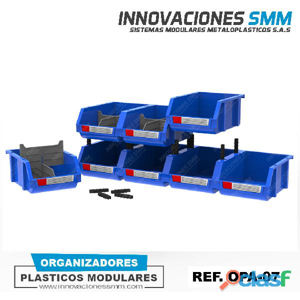 Organizadores Cajas Gavetas Plasticas Tornilleros Abierto REF. OPA 07