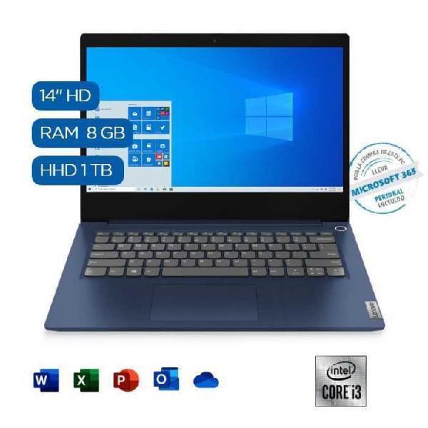 "Computador portátil lenovo 14"" pulgadas ideapad 3 intel i3"