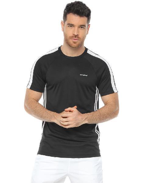 Camiseta deportiva, color negro/blanco para hombre