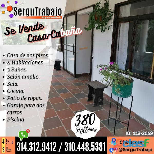 Se Vende Hermosa Casa Cabaña en Chinacota / Ref.: 113 2059 www.sergutrabajo.com
