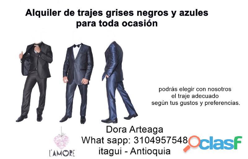 Alquiler de trajes Slim elegantes y económicos para hombres en Itagüí