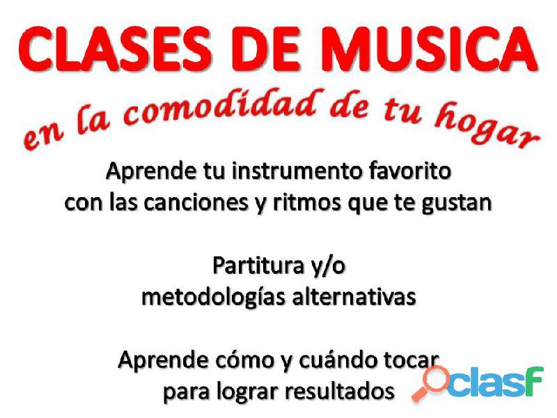 CLASES DE GUITARRA, PIANO, CANTO, SAXO, CLARINETE A DOMICILIO PROFESORES U. PEDAGOGICA
