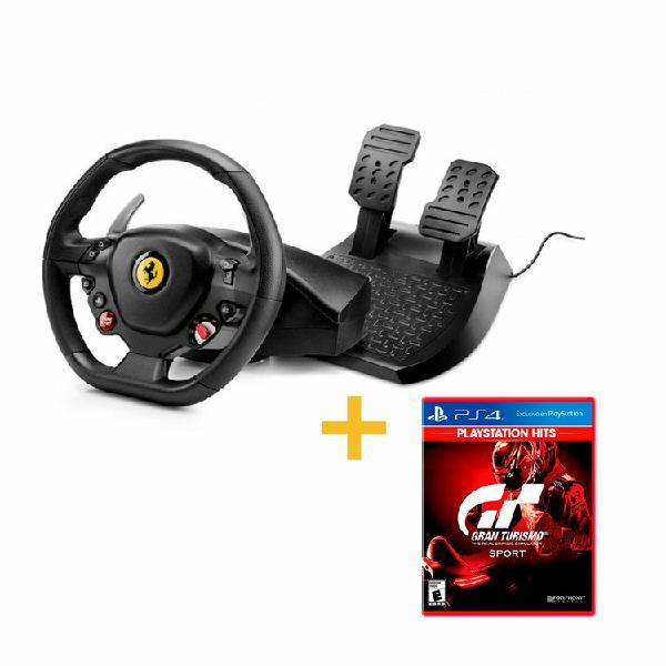 Timón + Pedales THRUSTMASTER PS3|PS4 T80 Ferrari 488 +